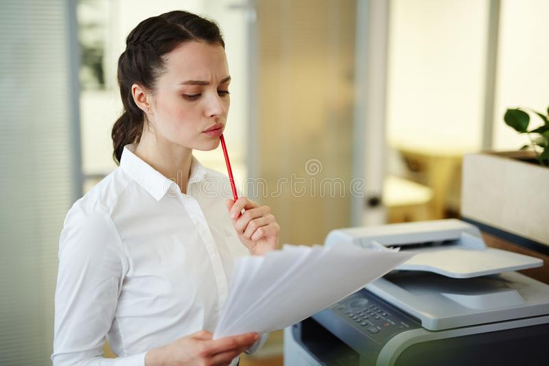 Reading terms of contract stock photos