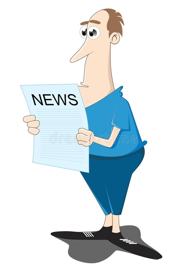 Free Reading The Newspaper Stock Image - 25281261