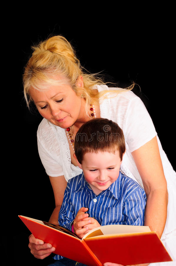 Reading To Her Grandson Royalty Free Stock Photos