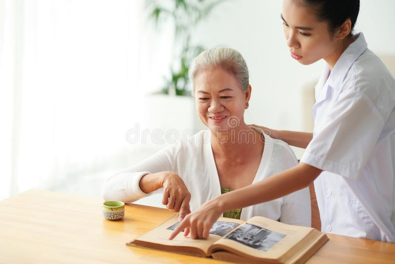 Reading to patient royalty free stock images