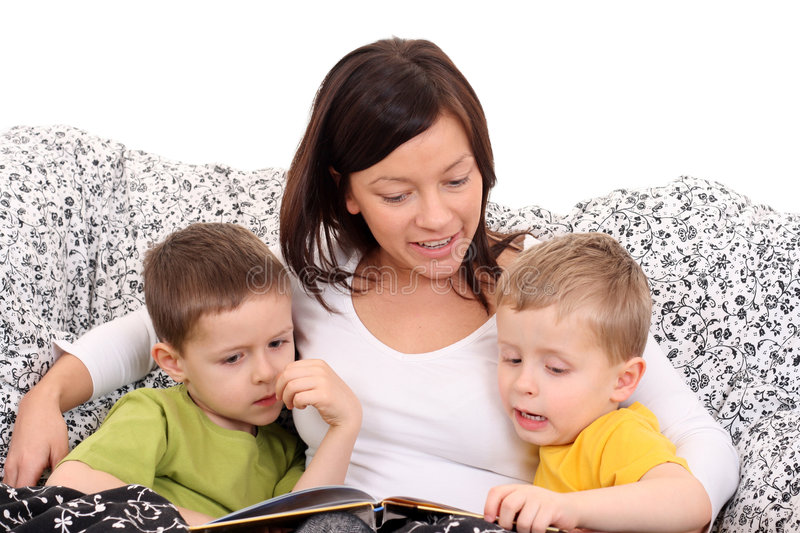Download Reading together stock photo. Image of children, friends - 4084562