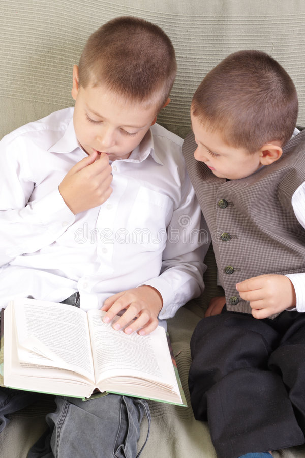 Download Reading together stock photo. Image of reading, book, tidy - 6219738