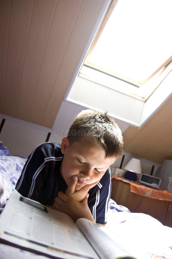 Reading under skylight