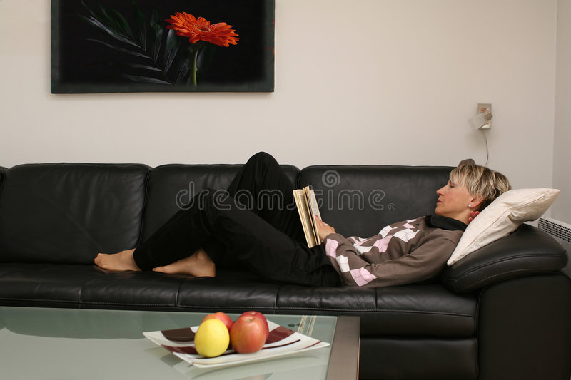 Download Reading woman #4 stock image. Image of looking, media - 2428453