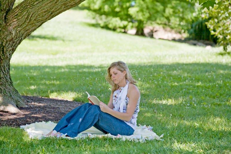 reading woman στοκ εικόνα