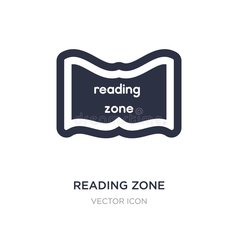reading zone icon on white background. Simple element illustration from Maps and Flags concept royalty free illustration