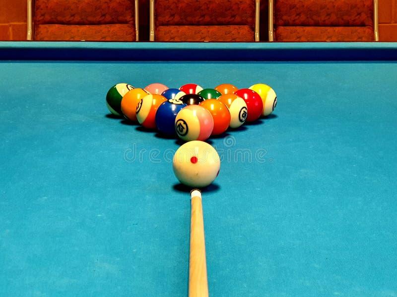 Ready for å battle whit pool royalty free stock photos
