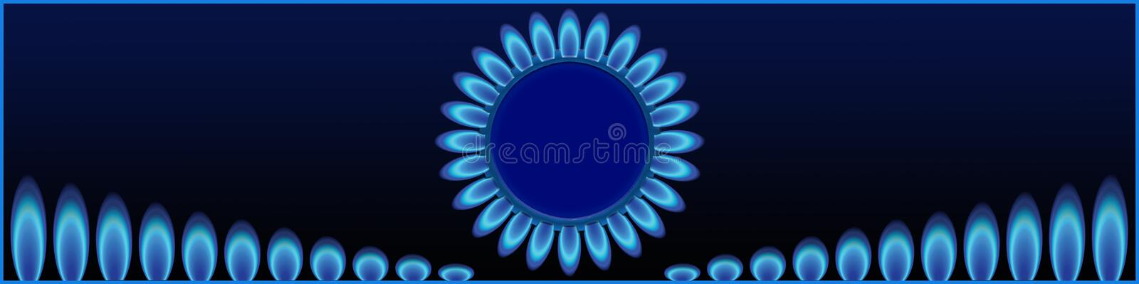 Cap for the site sale of industrial gases. royalty free stock images
