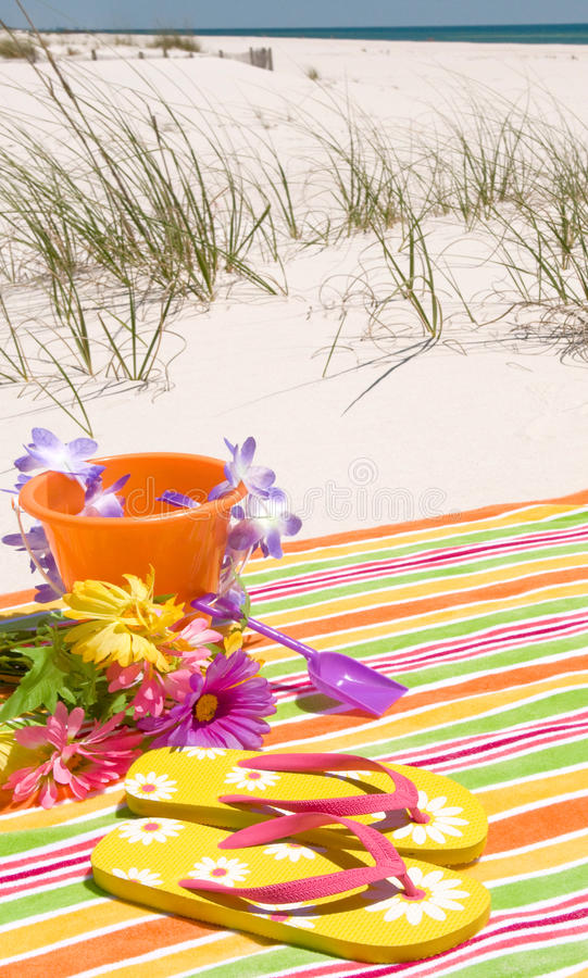 Download Ready for beach fun stock image. Image of emerald, flipflops - 14175523