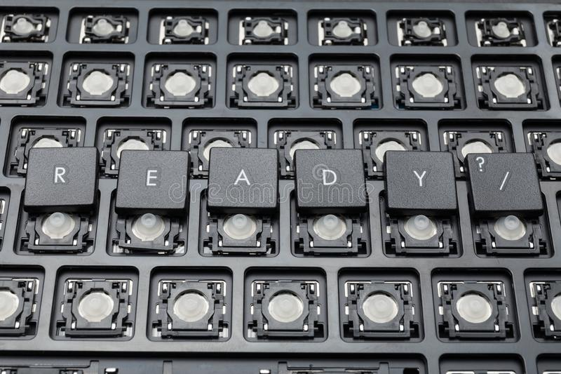 Ready black PC buttons. Old keyboard. Ready black PC buttons. Old keyboard stock photos