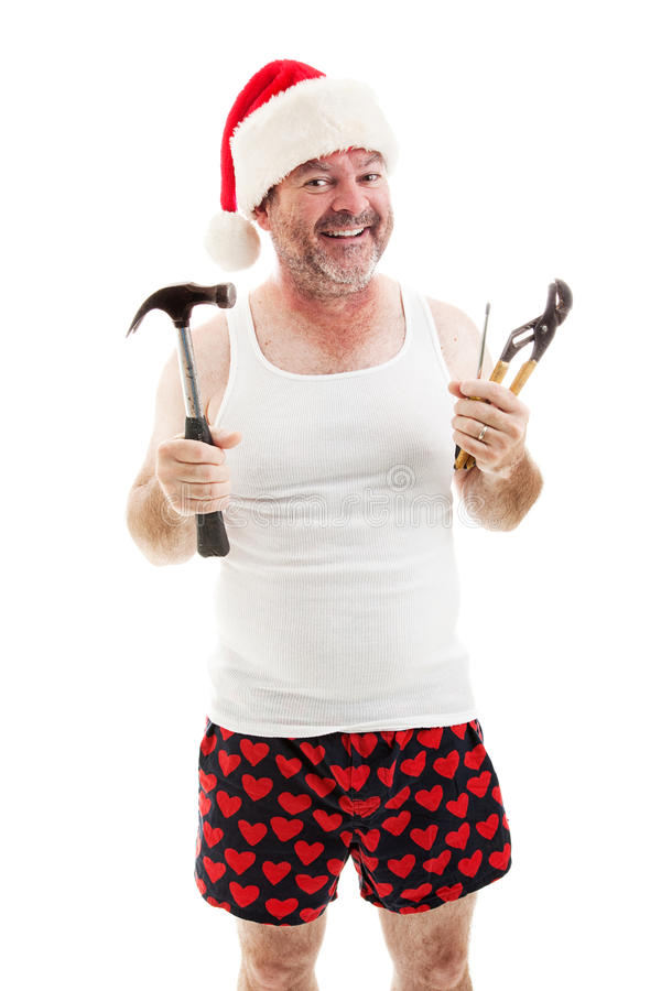 Ready For Christmas - Dad with Tools stock photography