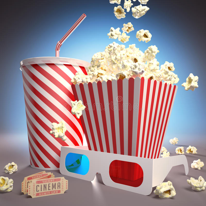 Ready For Cinema Royalty Free Stock Photography