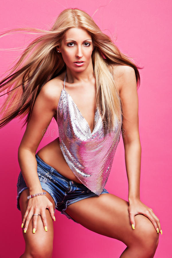 Download Ready for dance party stock photo. Image of hair, pink - 30847036