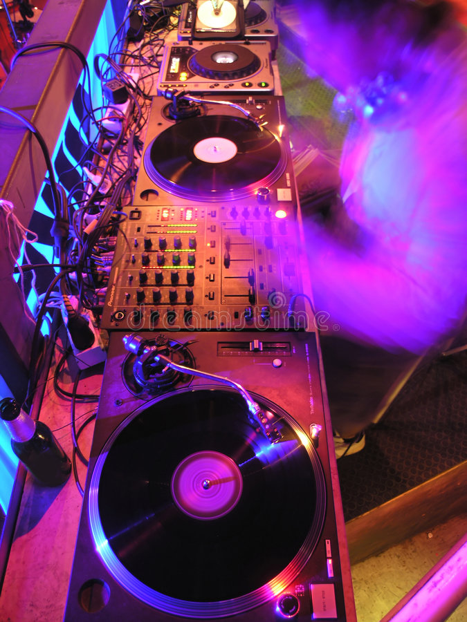 Ready for DJ's. DJ's Music Equipment, Performer, Gramophone, Music, Party royalty free stock photo