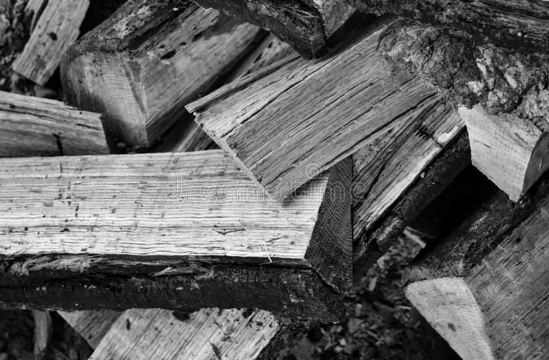 Dry Sawn Wood In The Backyard Stock Image - Image of sawmill