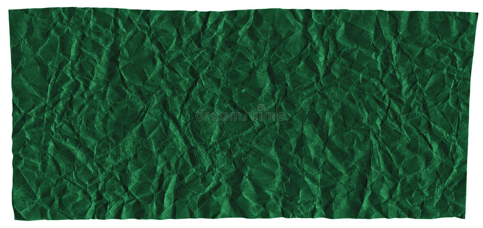 Ready frame for design, texture of crumpled craft paper, dark green abstract background. For clearance. Template stock image