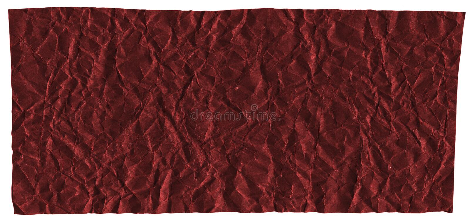 Ready frame for design, texture of crumpled craft paper, dark red abstract background. Macro stock photography