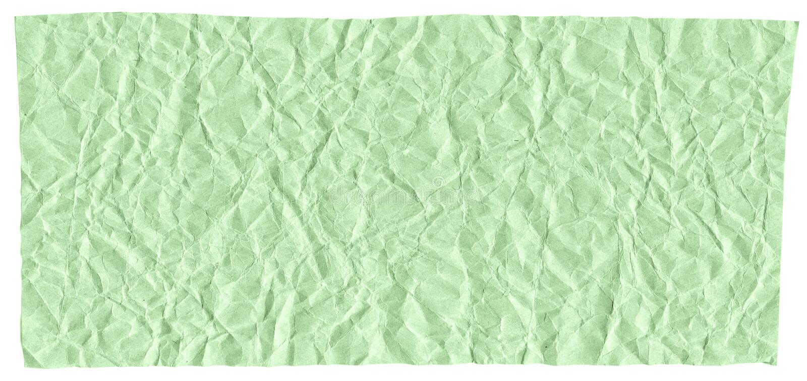 Ready frame for design, texture of crumpled craft paper, light green abstract background. Macro stock photography