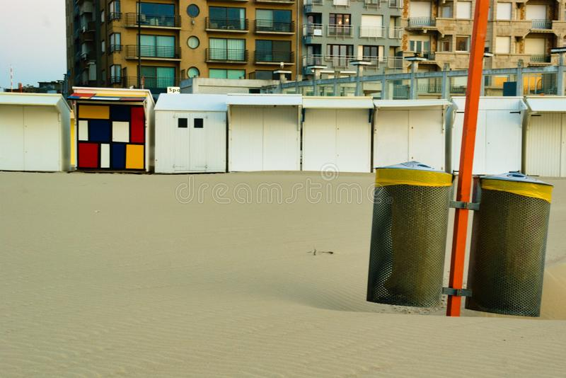 Ready for the garbage from all tourist royalty free stock photo