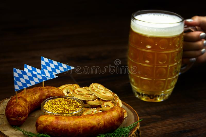 Ready for october beer festival in autumn october month in germany royalty free stock photography