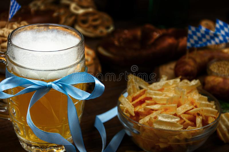Ready for october beer festival in autumn october month in germany royalty free stock image