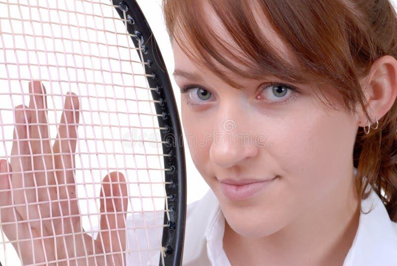 Ready per giocare il tennis fotografie stock