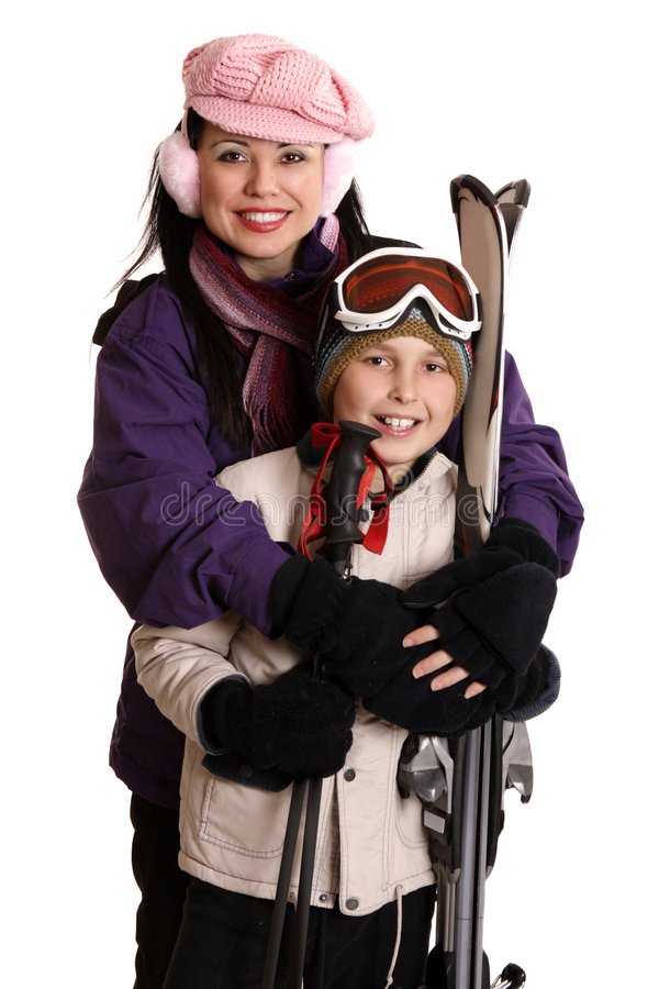 Ready for the ski season stock photos