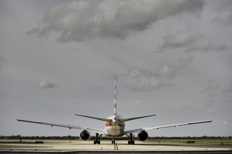 A jet airplane prepares to take off,JFK airport, NYC stock images