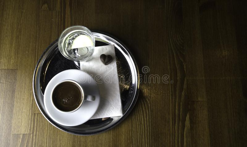 ready to be served a cup of coffee royalty free stock images