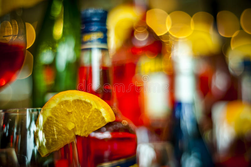 Ready to a colorful party with cocktails royalty free stock photos