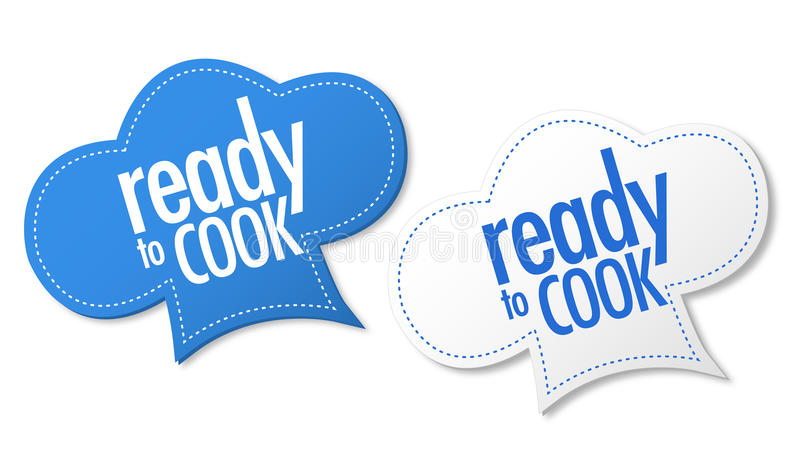 Ready to cook stickers royalty free illustration