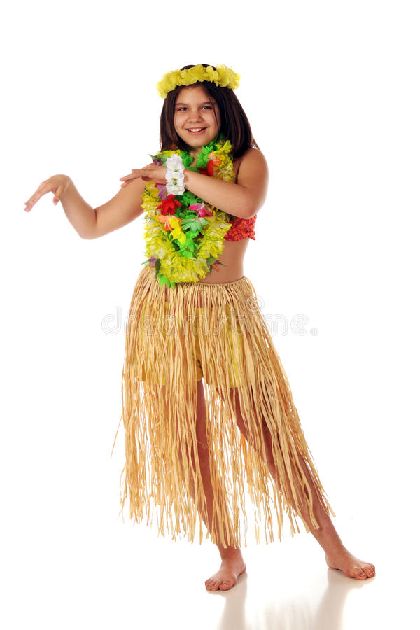 Download Ready to Dance Hawaiian stock photo. Image of white, pretending - 9774684