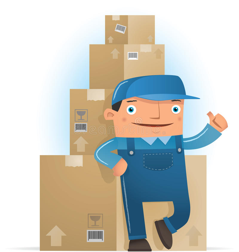 Download Ready to deliver stock vector. Image of cartoon, delivery - 15623048
