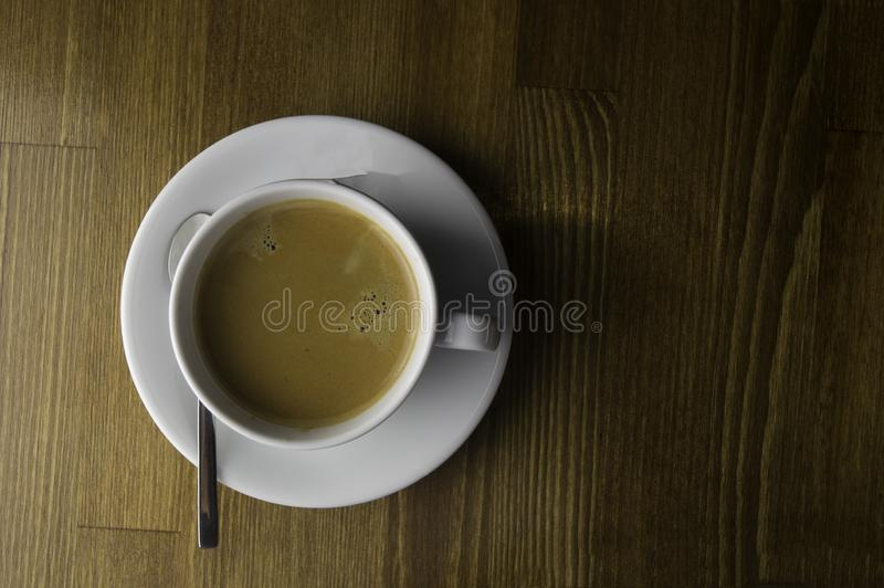 the ready to drink a cup of coffee royalty free stock photo