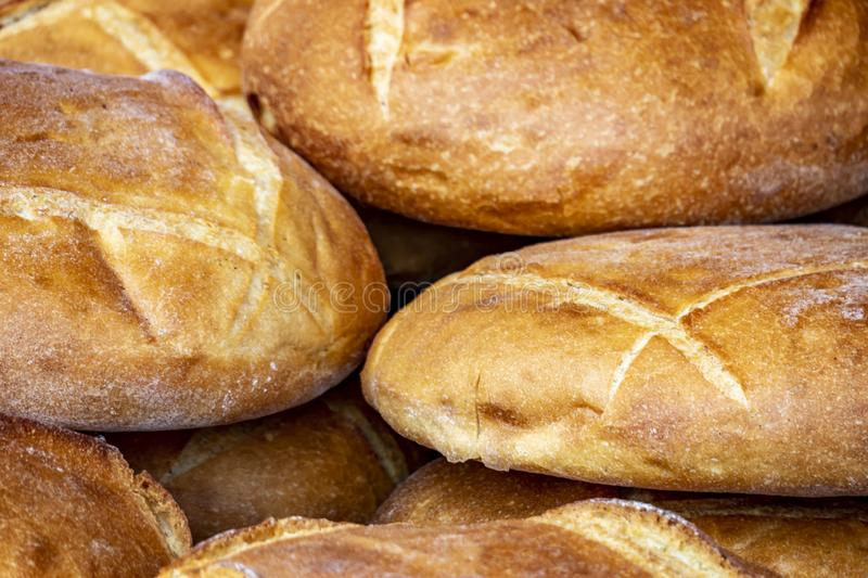 Ready to eat breads in market place stock image