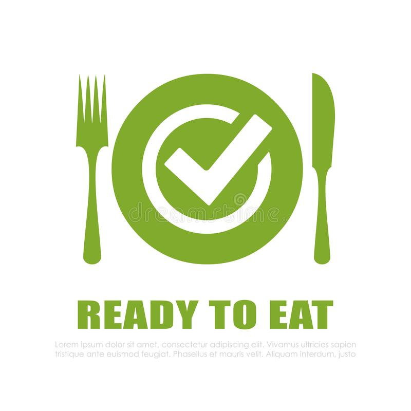 Ready to eat vector icon stock illustration