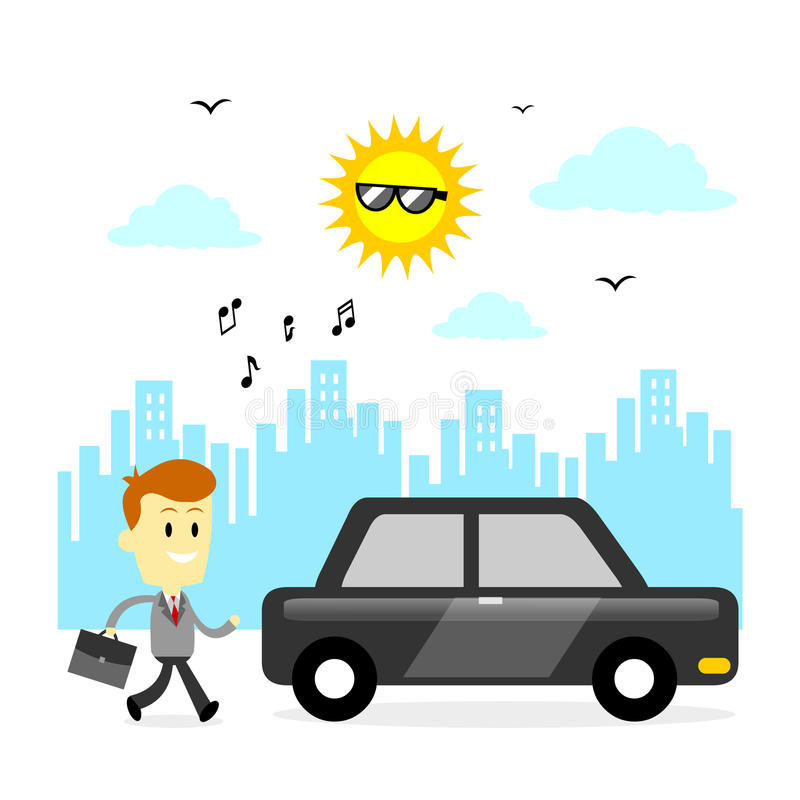 Ready To Go To Office stock vector. Illustration of shine ...