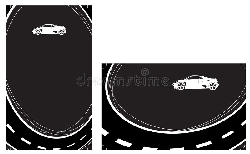 Ready to print Business Cards. On the black background royalty free illustration
