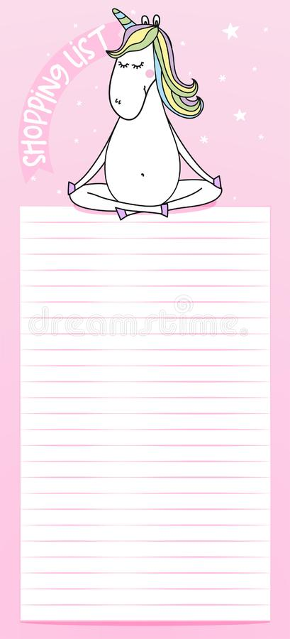 Ready to print shopping list royalty free illustration