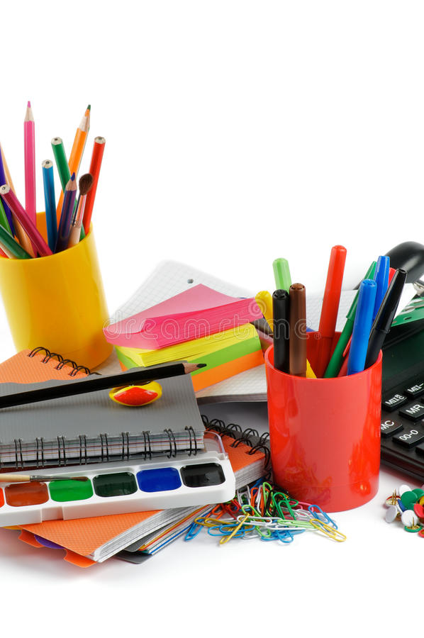 Download Ready to School stock photo. Image of note, container - 26325072