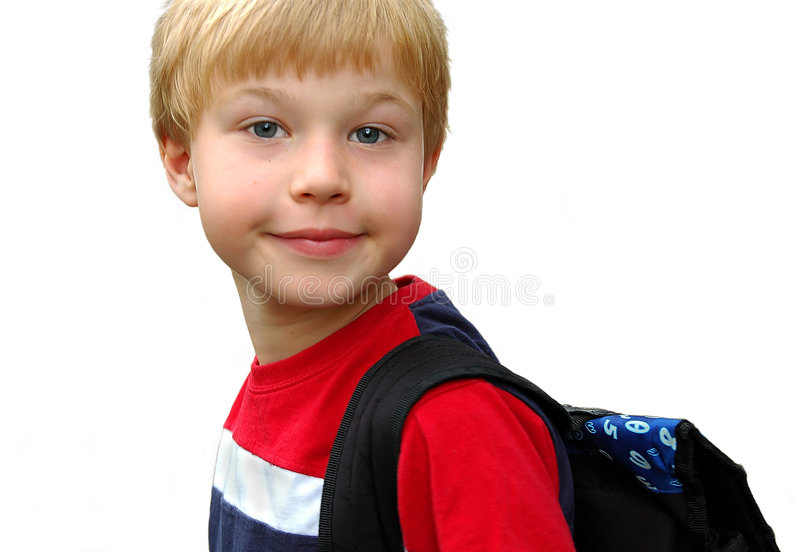 Download Ready to school stock photo. Image of isolated, backpack - 2960020
