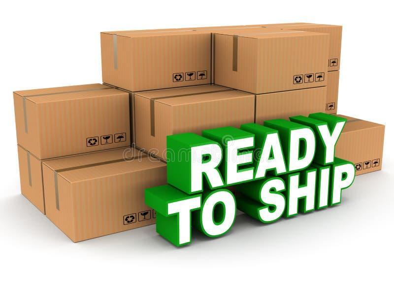 ready to ship stock illustration illustration of shipping 36438009. Black Bedroom Furniture Sets. Home Design Ideas