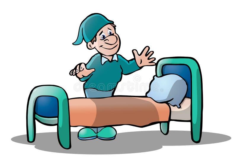 Download Ready to sleep stock illustration. Image of sleep, stretch - 19014928