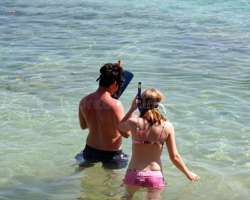 Ready To Snorkel Stock Image