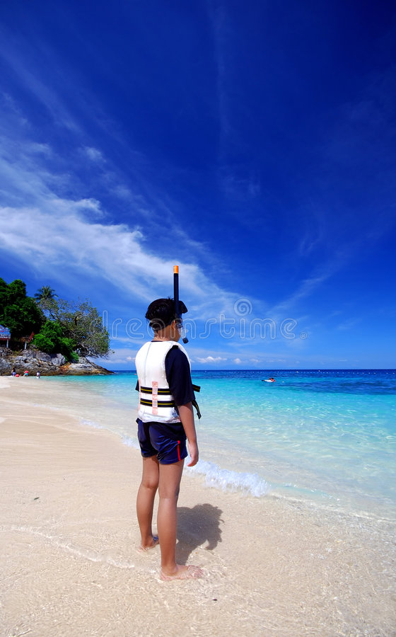Download Ready to snorkeling stock photo. Image of place, relax - 3094476