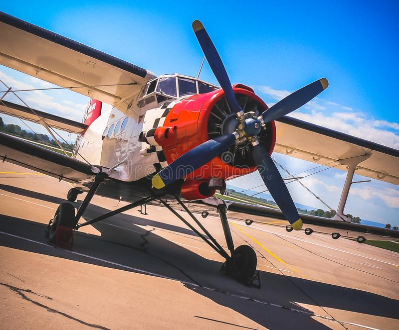 Ready to take-off. Popular historic airplane Antonov An-2 royalty free stock photos