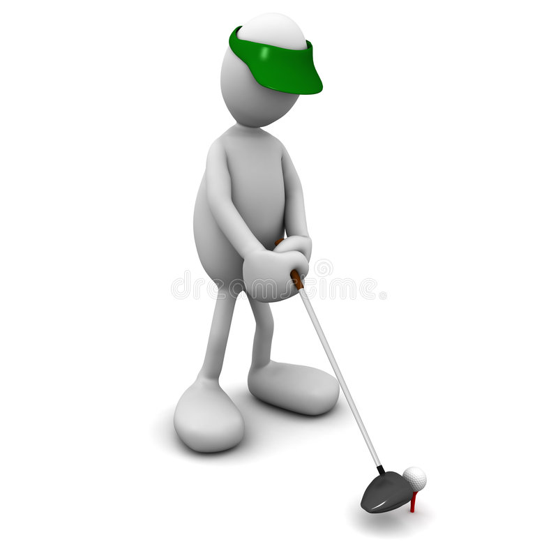 Ready to tee off vector illustration