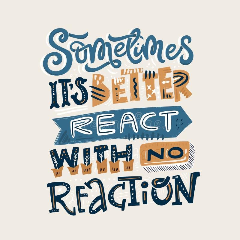 Reageer zonder reactie vector illustratie