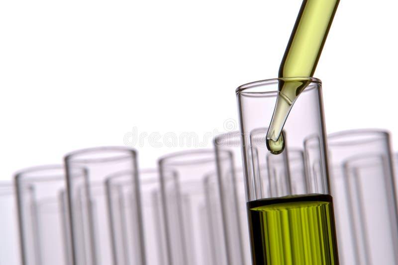 Reageerbuizen in het Laboratorium van de Wetenschap stock foto