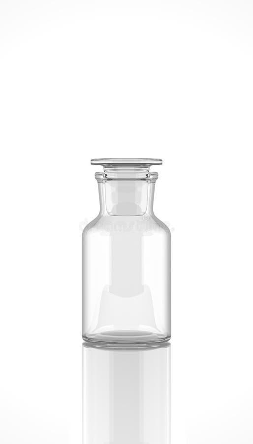 Reagensfles op witte achtergrond royalty-vrije illustratie